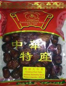 Fructus Jujubae em embalagem vendida no bairro oriental da Liberdade